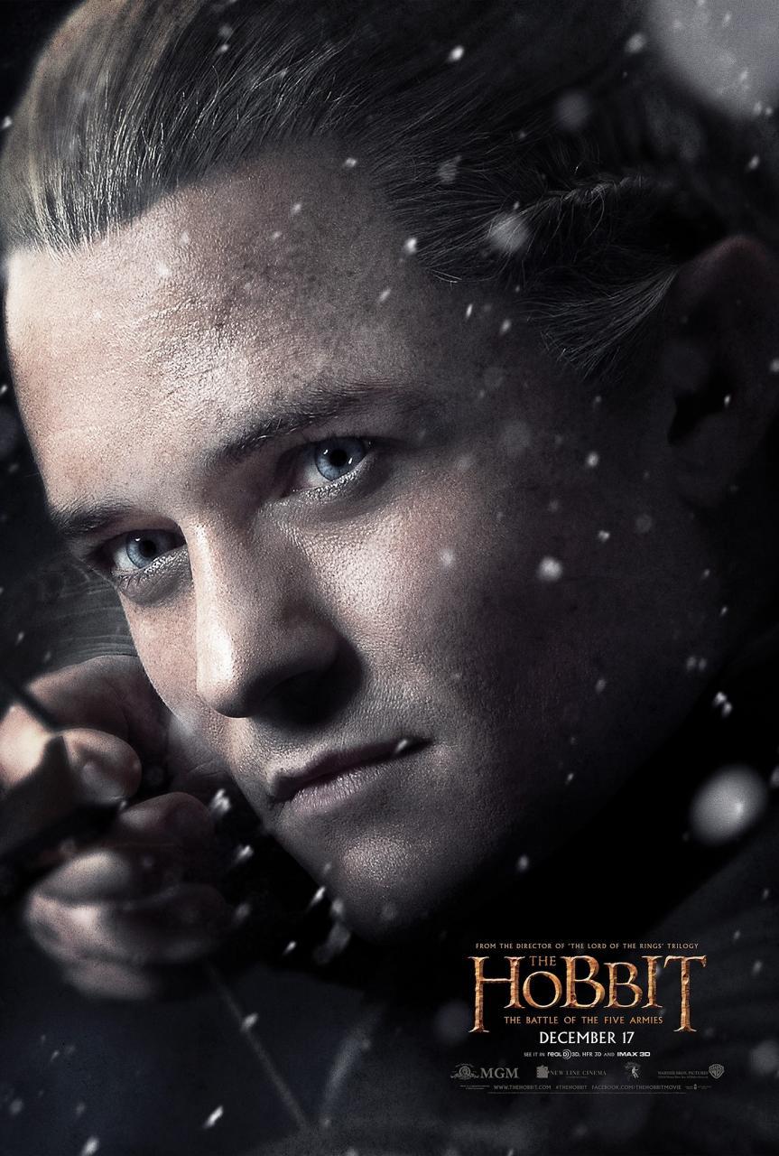 Le Hobbit – La Bataille des Cinq Armées : Nouveau Poster (Legolas)