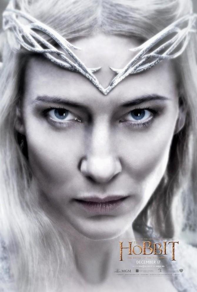 Le Hobbit – La Bataille des Cinq Armées : Nouveau Poster (Galadriel)