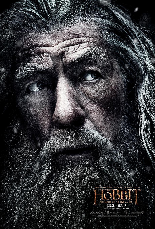 Le Hobbit – La Bataille des Cinq Armées : Nouveau Poster (Gandalf)