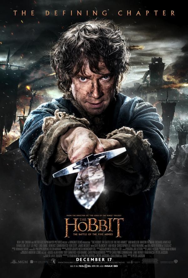 Le Hobbit – La Bataille des Cinq Armées : Nouveau Poster (Bilbo)